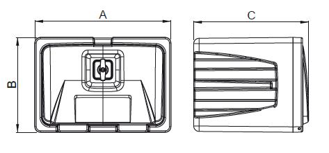 schemat wymiarów skrzynki